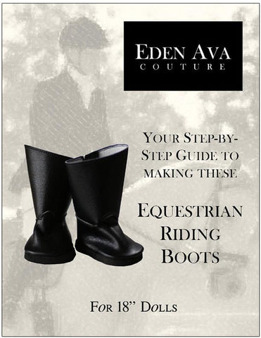 "Equestrian Riding Boots 18"" Doll Shoe Pattern"