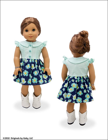 "Soundside Dress and Blouse 18"" Doll Clothes"