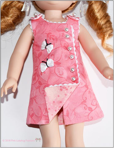 "Butterfly Frock 14.5"" Doll Clothes Pattern"