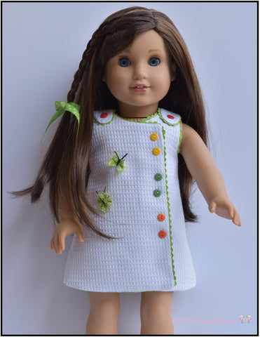 "Butterfly Frock 18"" Doll Clothes Pattern"