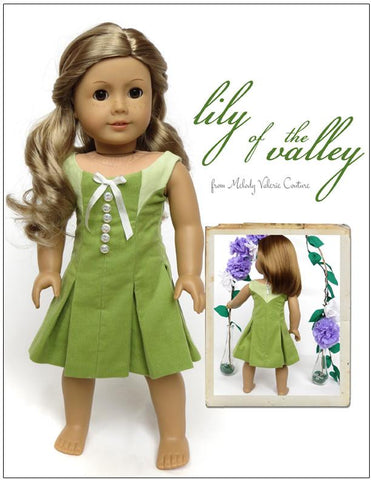 "Melody Valerie Couture 18 Inch Modern Lily of the Valley Dress 18"" Dolls Pixie Faire"