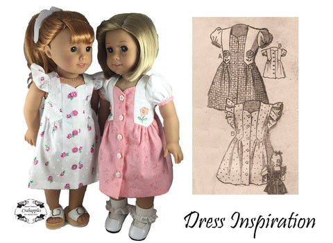 "Fab Forties 18"" Doll Clothes Pattern"