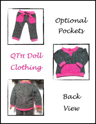 "Fast Track Suit 18"" Doll Clothes Pattern"
