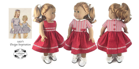"Fifties Flirt 18"" Doll Clothes Pattern"
