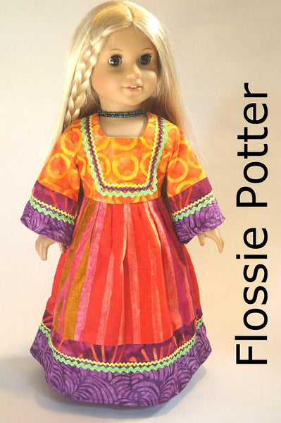 Flossie Potter Flower Child Maxi Dress Doll Clothes