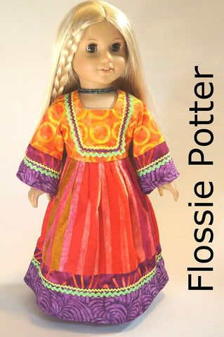 "Flower Child Maxi Dress 18"" Doll Clothes"