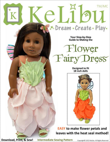 "Flower Fairy Dress 18"" Doll Clothes"