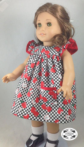 "Flutter Sleeve Dress 18"" Doll Clothes Pattern"