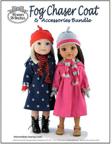 Fog Chaser Coat and Accessories Bundle for WellieWishers and Hearts For Hearts Girls Dolls