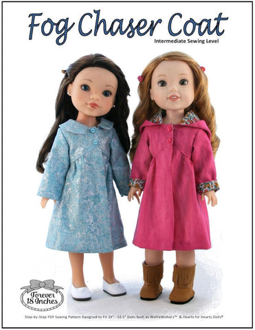 "Fog Chaser Coat 14-14.5"" Doll Clothes Pattern"
