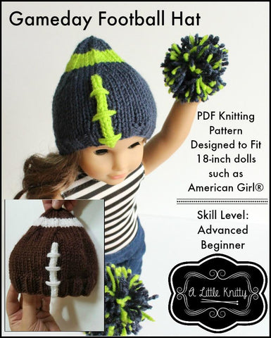 A Little Knitty Knitting Game Day Football Hat Knitting Pattern Pixie Faire