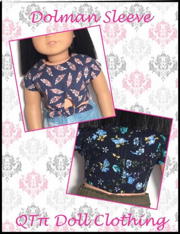 "QTπ Doll Clothing 18 Inch Modern Forget-Me-Knot Top 18"" Doll Clothes Pattern Pixie Faire"