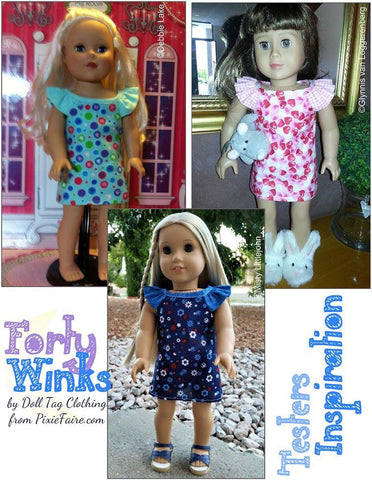 "Forty Winks 18"" Doll Clothes Pattern"