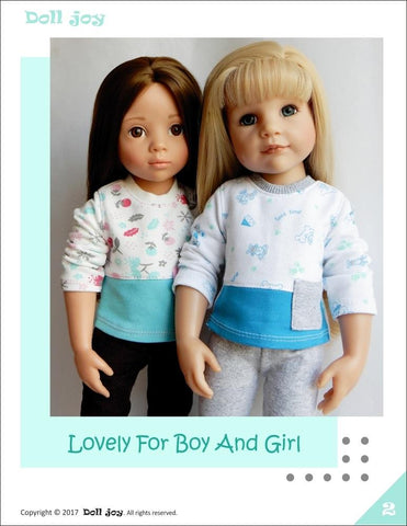 "Pajama Top Pattern for 19"" Gotz Dolls"