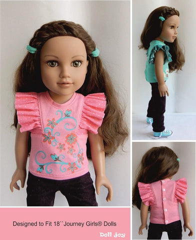 "Flutter Sleeve Top Pattern for 19"" Gotz Dolls"