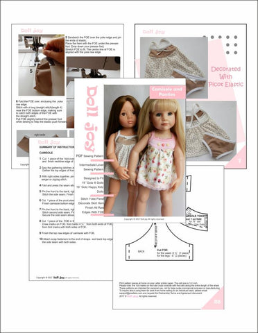 "Camisole and Panties Pattern for 19"" Gotz Dolls"