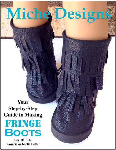 "Fringe Boot 18"" Doll Shoe Pattern"