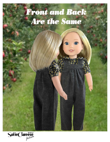 "Sofie's Jumper Pants & Dress 14.5"" Doll Clothes Pattern"
