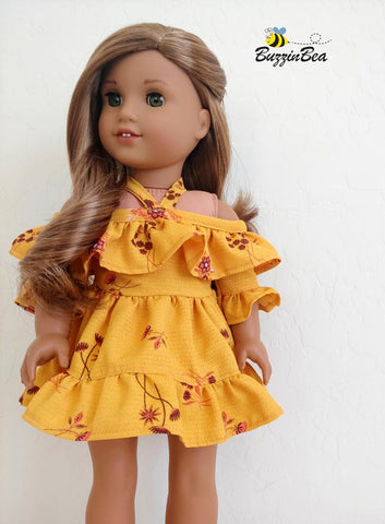 "Wildflower Dress 18"" Doll Clothes Pattern"