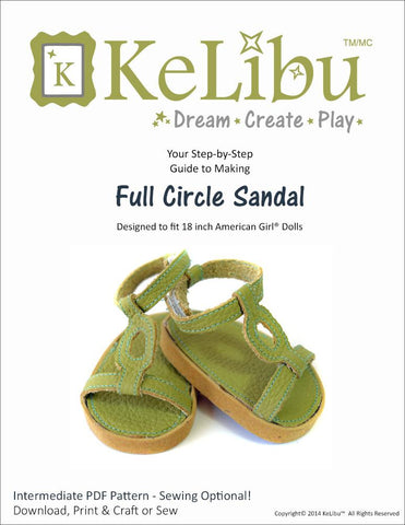 "Full Circle Sandals 18"" Doll Shoes"
