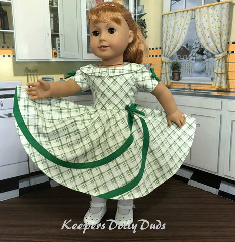 "1950s Circle Swirl Dress 18"" Doll Clothes Pattern"