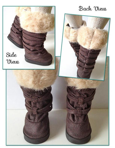 "Fur Trimmed Boots 18"" Doll Shoes"