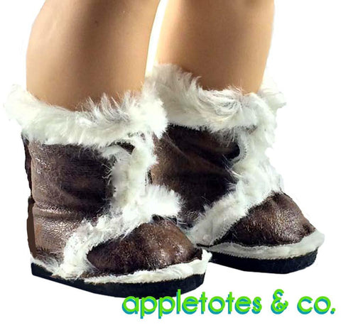 "Furry Boots 18"" Doll Shoe Pattern"