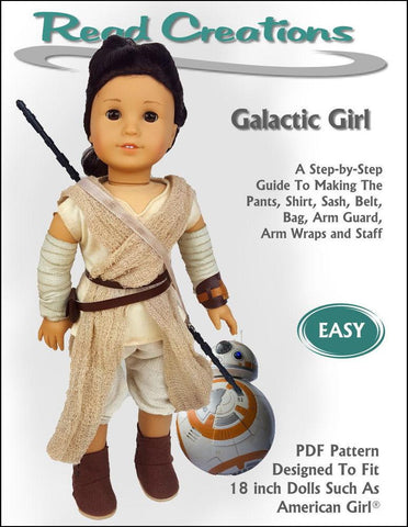 "Read Creations 18 Inch Modern Galactic Girl 18"" Doll Clothes Pattern Pixie Faire"