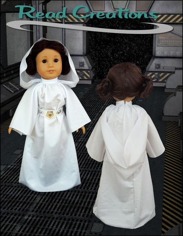 "Galactic Princess Dress 18"" Doll Clothes Pattern"