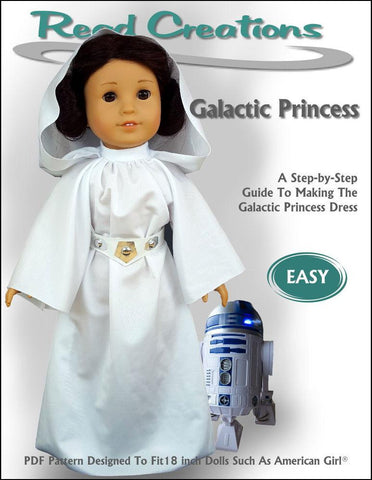 "Read Creations 18 Inch Modern Galactic Princess Dress 18"" Doll Clothes Pattern Pixie Faire"
