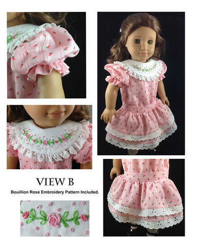 "Garden Party Dress Bundle 18"" Doll Clothes Pattern"