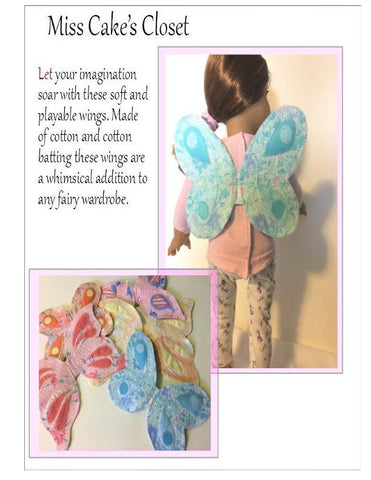 "Garden Fairy Wings 18"" Doll Accessory Pattern"