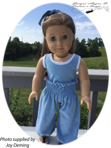 "Genie Pants 18"" Doll Clothes Pattern"