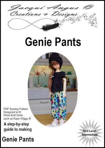 Genie Pants Pattern for MSD Ball Jointed Dolls
