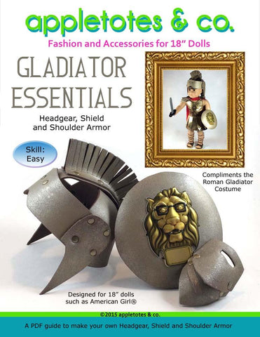 "Gladiator Essentials 18"" Doll Accessory Pattern"