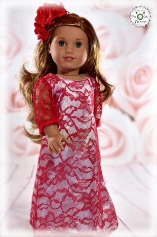 "Glamorous Maxi Dress 18"" Doll Clothes Pattern"