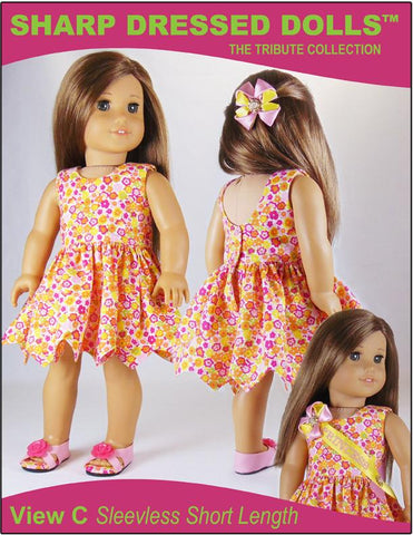 "The Gloria Dress 18"" Doll Clothes Pattern"
