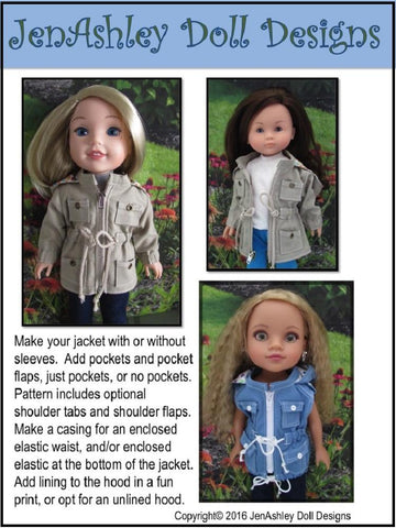 Go Everywhere Anorak Jacket for 13-14.5 Inch Dolls
