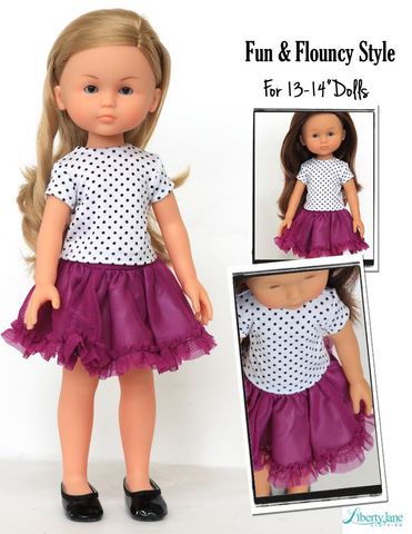 Picture Day Tee and Skirt for Les Cheries and Hearts for Hearts Girls Dolls