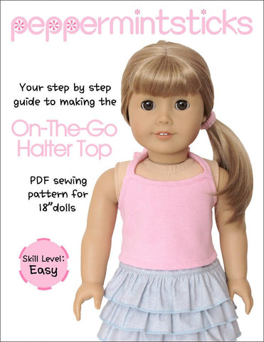 "On The Go Halter Top 18"" Doll Clothes Pattern"
