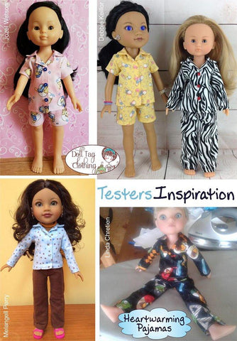 Heartwarming Pajamas Pattern for Les Cheries and Hearts For Hearts Girls Dolls