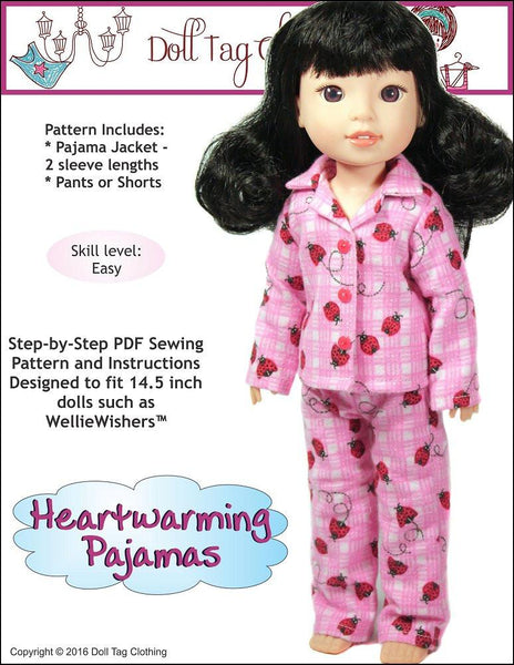 Doll Tag Clothing Heartwarming Pajamas Welliewishers Doll