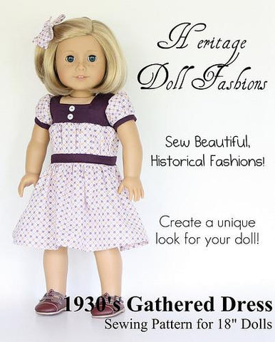 Heritage DOll Fashions 1930 dress pattern PDF