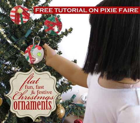 Festive Doll Size Ornaments Tutorial & Video