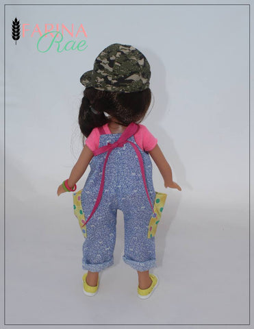 "Farina Rae WellieWishers Hip Hop Hannah Romper 14-14.5"" Doll Clothes Pattern Pixie Faire"