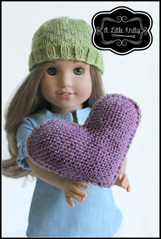 FREE Happy Heart Pillow Knitting Pattern