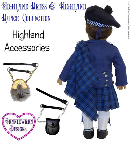 "Boy's Highland Bundle 18"" Doll Clothes Pattern"