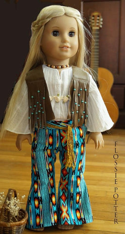 "Hip-Hugger Bell Bottoms 18"" Doll Clothes"