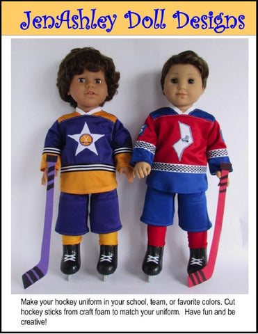 "Lighting Lamps Hockey Uniform 18"" Doll Clothes Pattern"