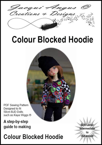 Colour Blocked Hoodie Pattern for MSD Ball Jointed Dolls
